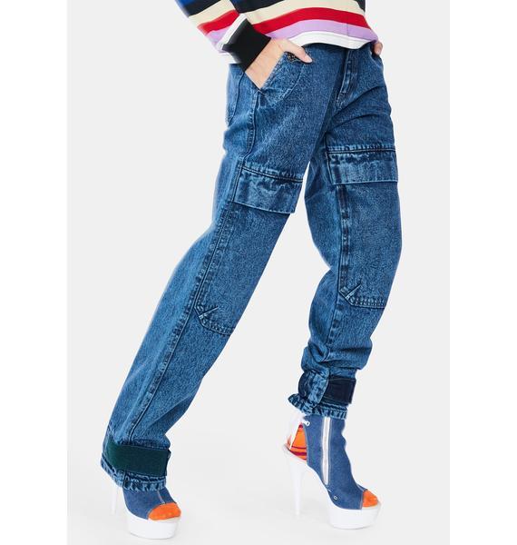 x-Girl Denim Cargo Pants
