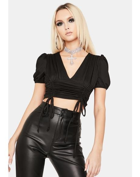 Picture Perfect Ruched Crop Top