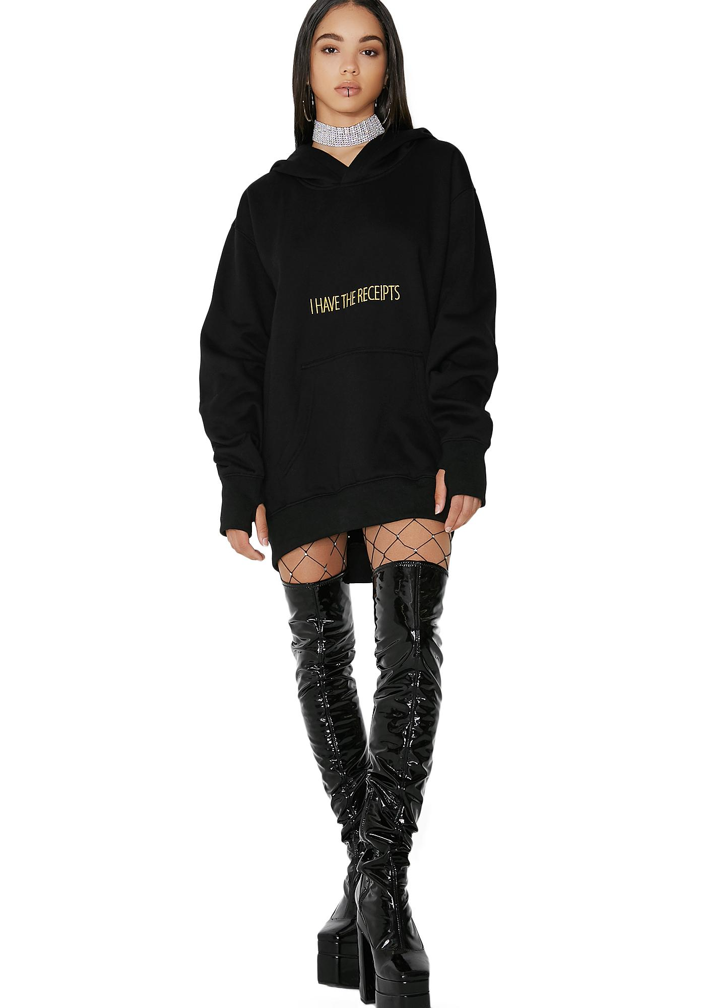 Poster Grl I Have The Receipts Hoodie