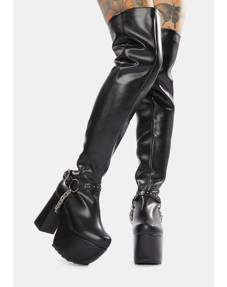 City Thigh High Platform Boots