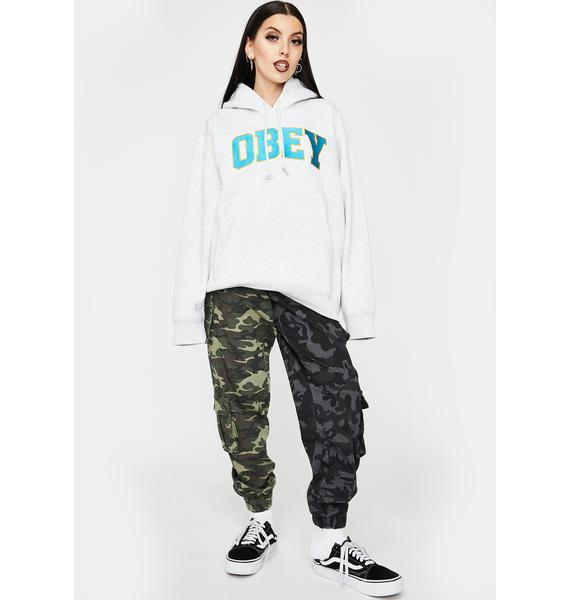 Obey Ash Gray Sports II Pullover Hoodie