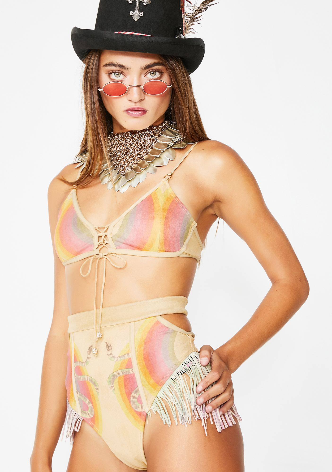 Save the Parade She's A Rainbow Uschi Bralette