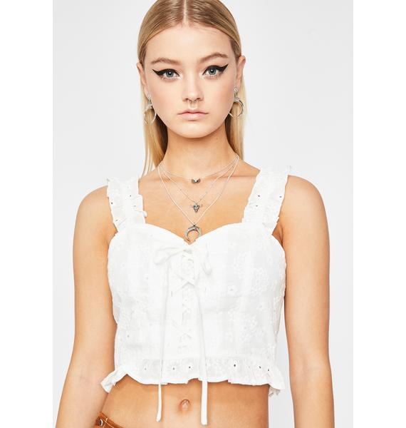 Sweetheart Charm Crop Top