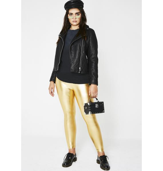 Goldie Metallic Leggings