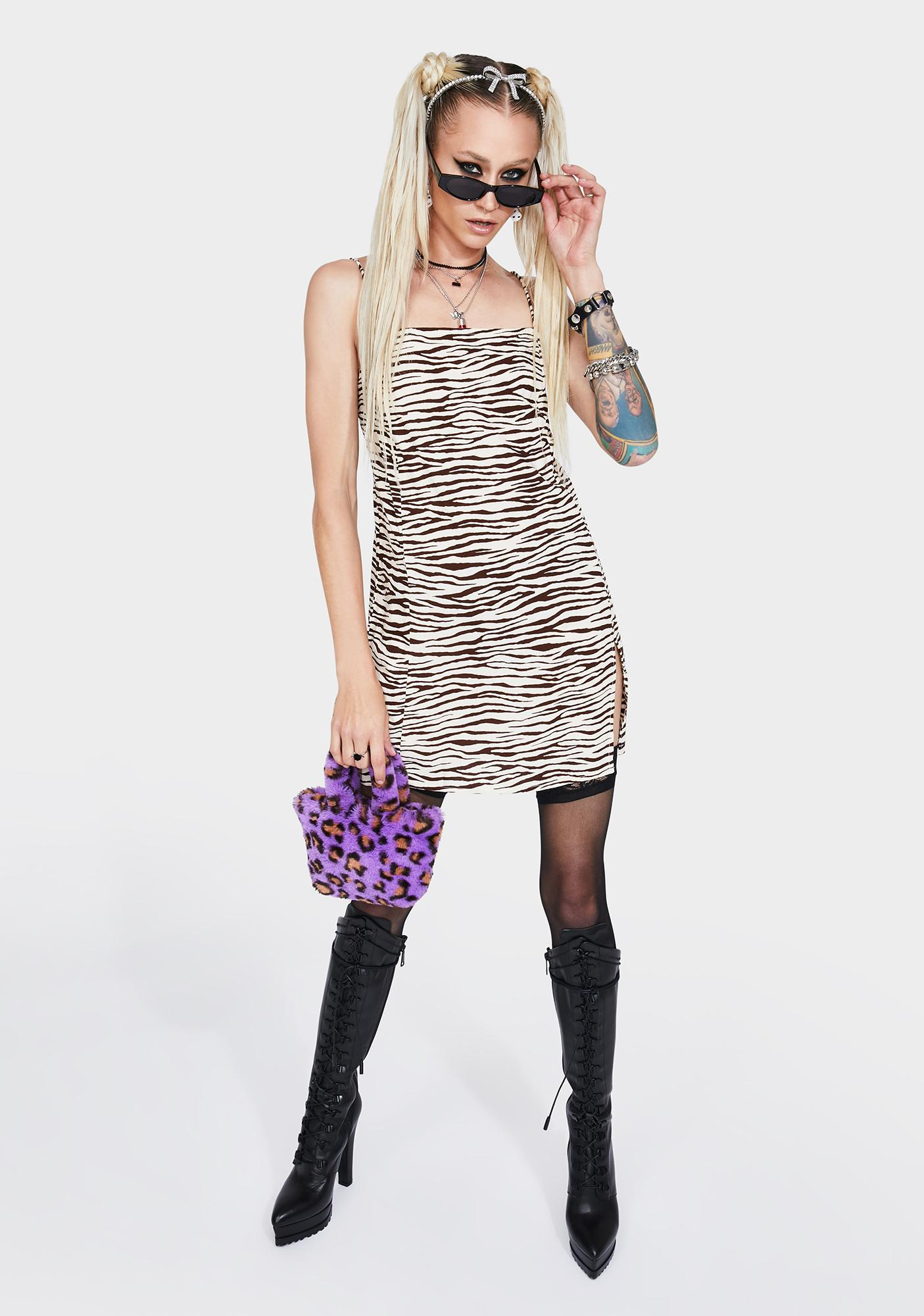 Motel Cocoa Tiger Datista Mini Dress
