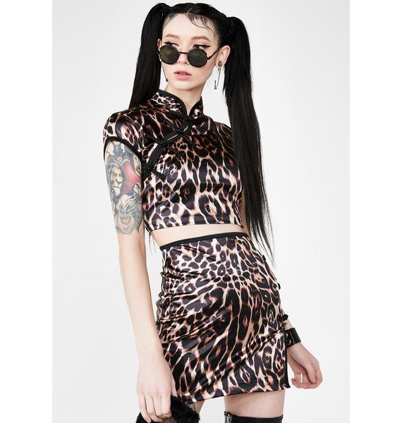 Motel Jakina Leopard Top