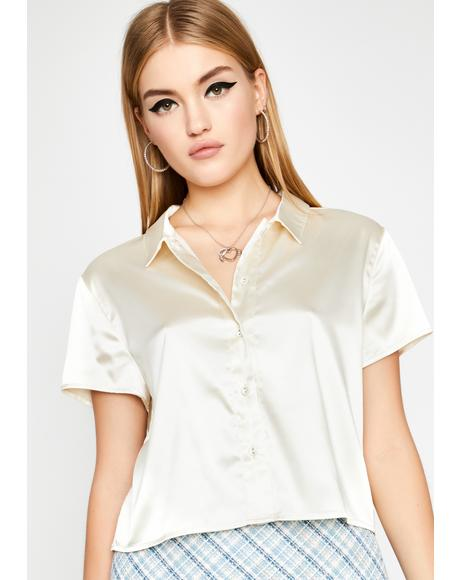 Boo About Last Night Satin Blouse