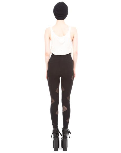 X Belle Of The Brawl Siouxsie Mesh Triangle Cut Out Leggings