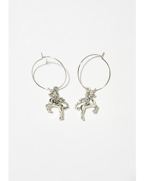 Magical Creature Hoop Earrings