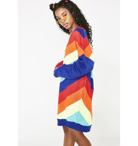 Kandy Bright Rainbow Sweater