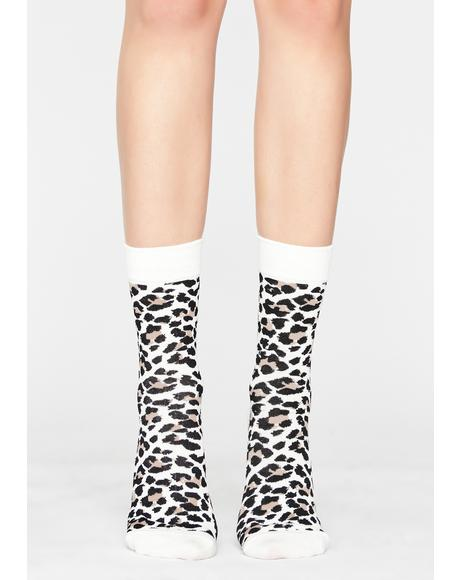 Loud Meow Leopard Socks