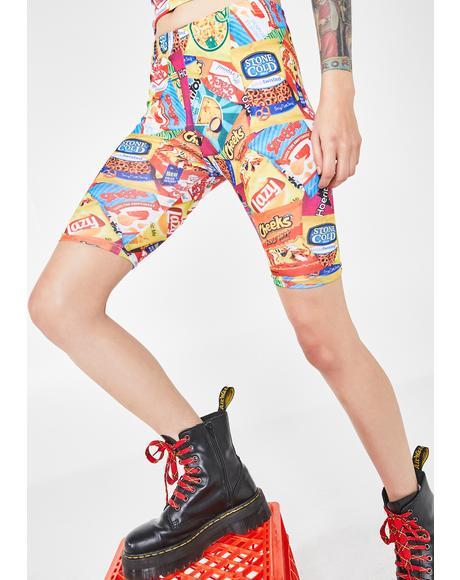 Junk Foodie Biker Shorts