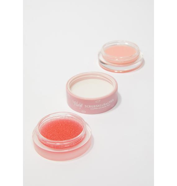Rude Cosmetics Grapefruit Scrubski & Balmer Lip Exfoliator