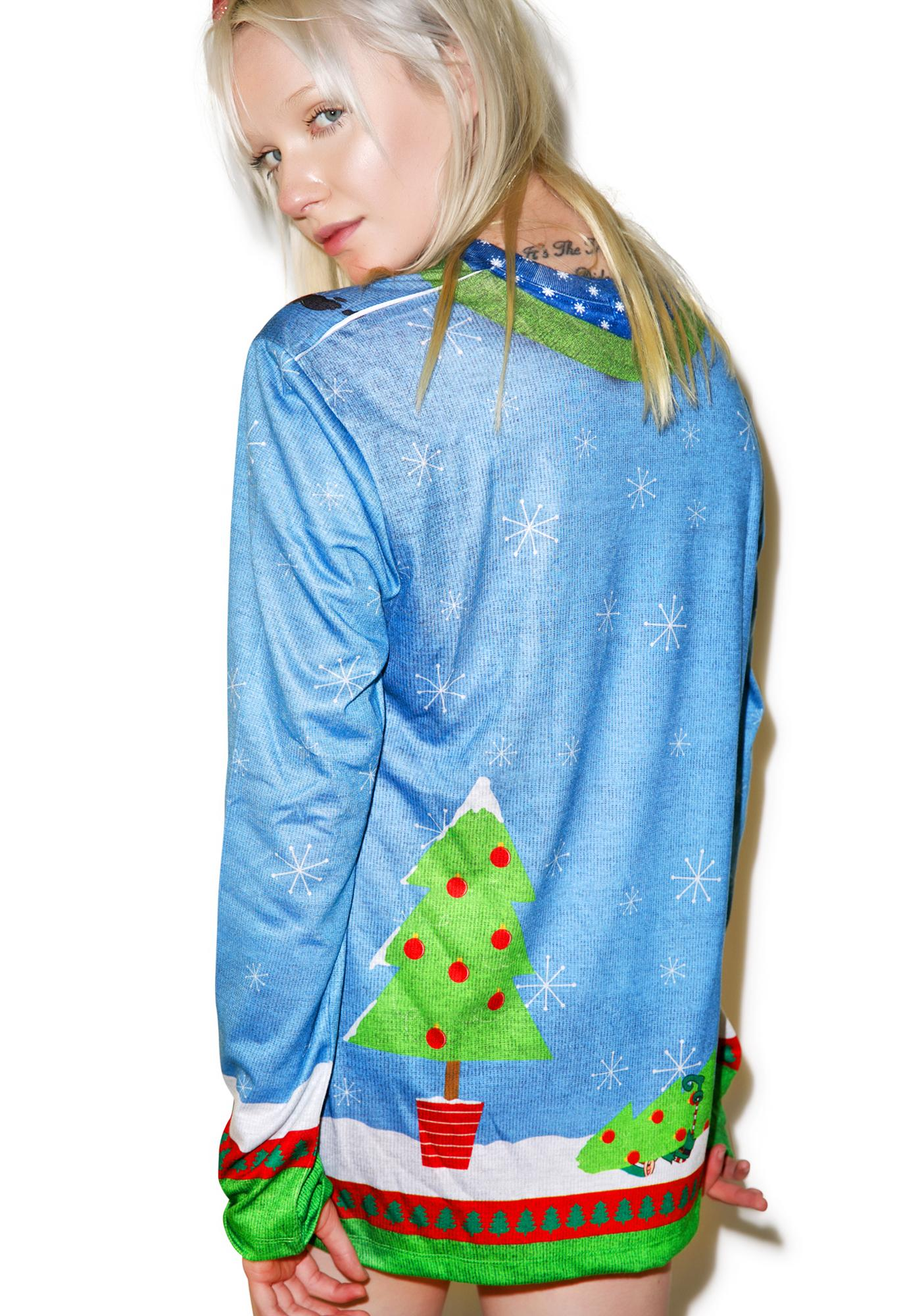 Elves Gone Wild Sweater Tee