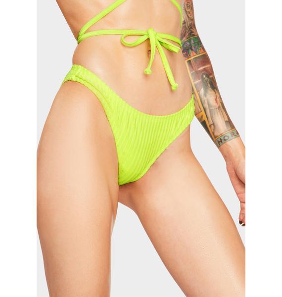 Dippin' Daisy's  Neon Yellow Nocturnal Bikini Bottoms