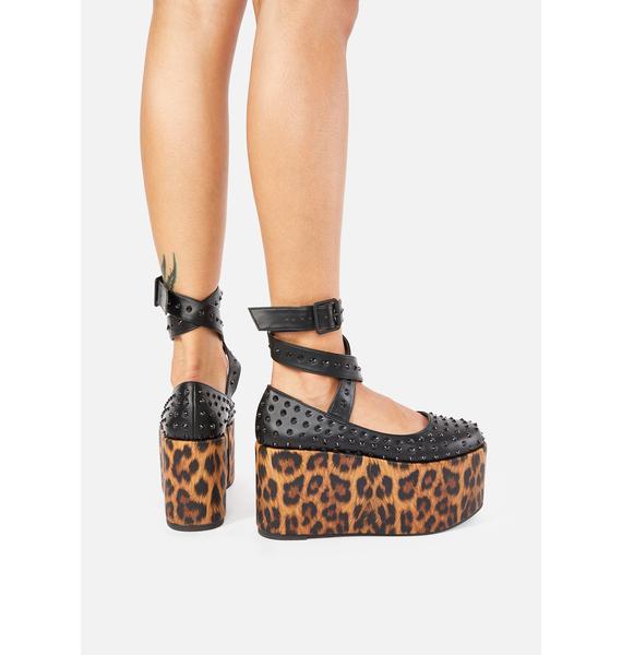Charla Tedrick Leopard Shebop Platform Mary Janes