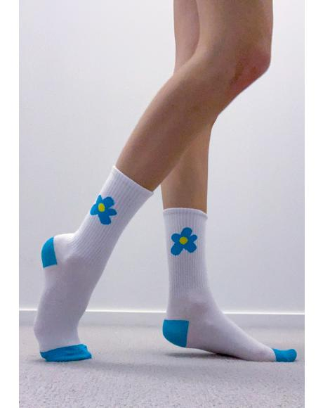 Flowers For You Crew Socks