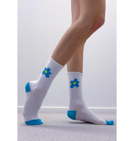 Flowers For You Crew Socks