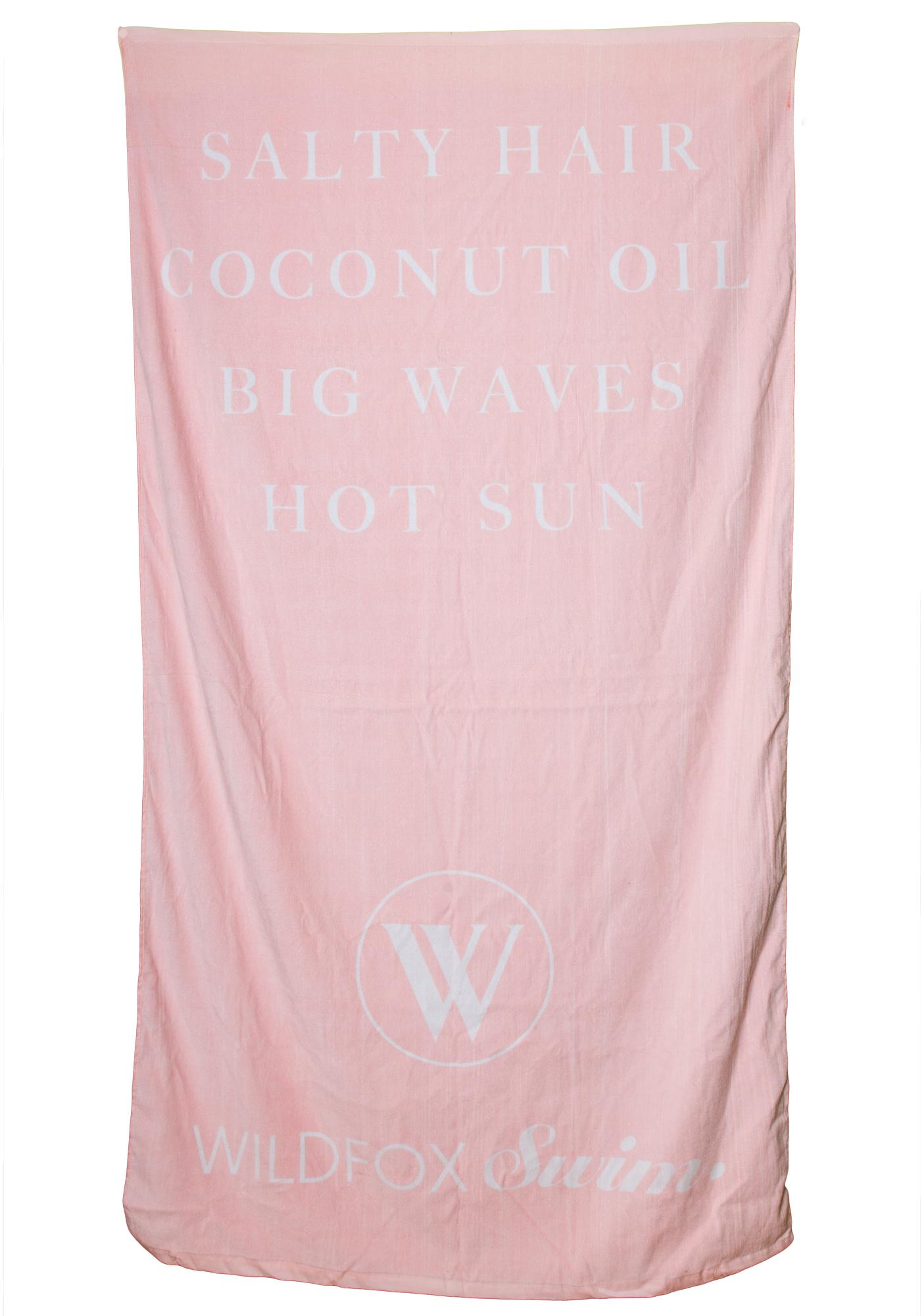 Wildfox Couture Salty Hair Swim Towel