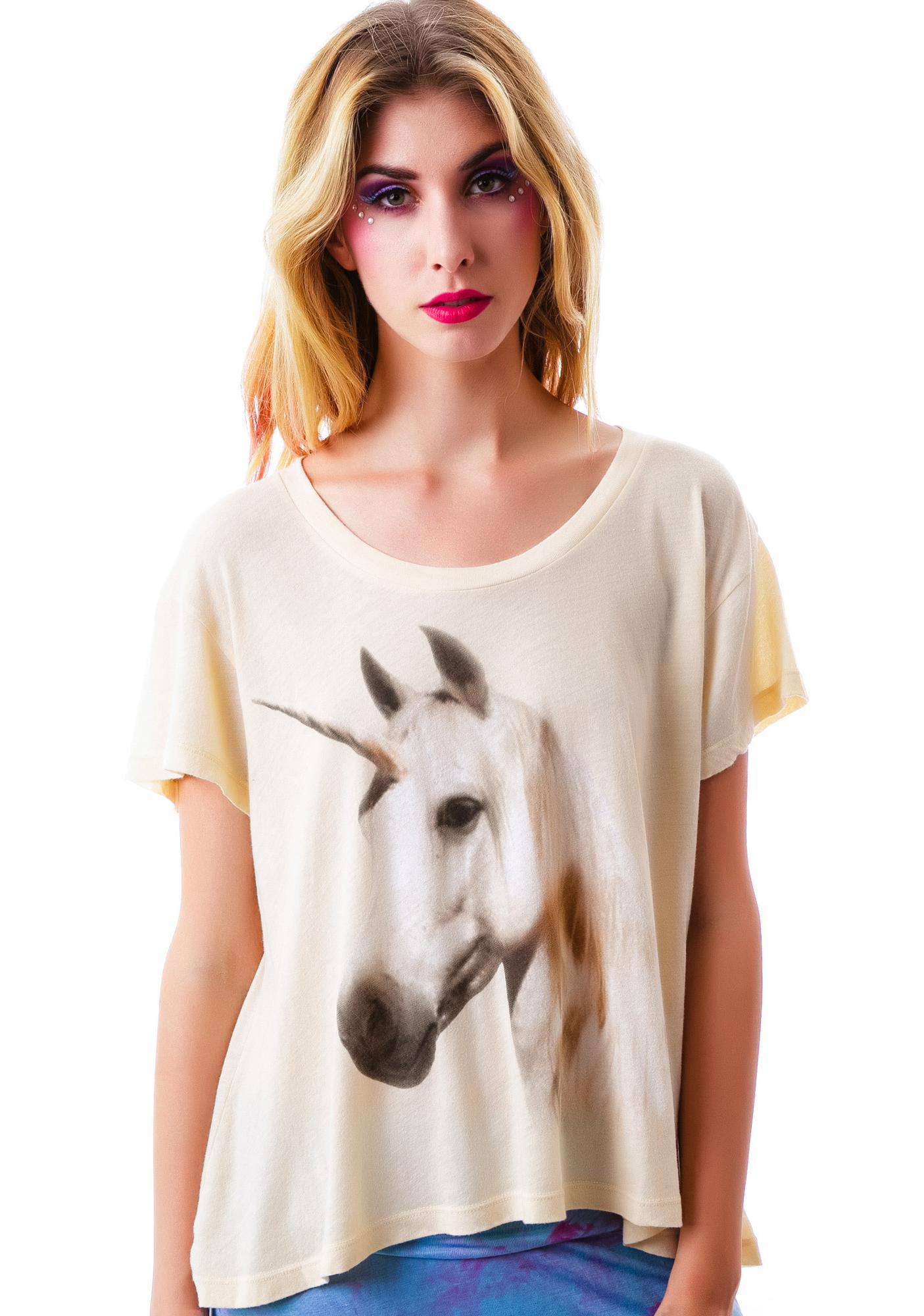 Wildfox Couture Unicorn Dream Lazy Weekend Tee