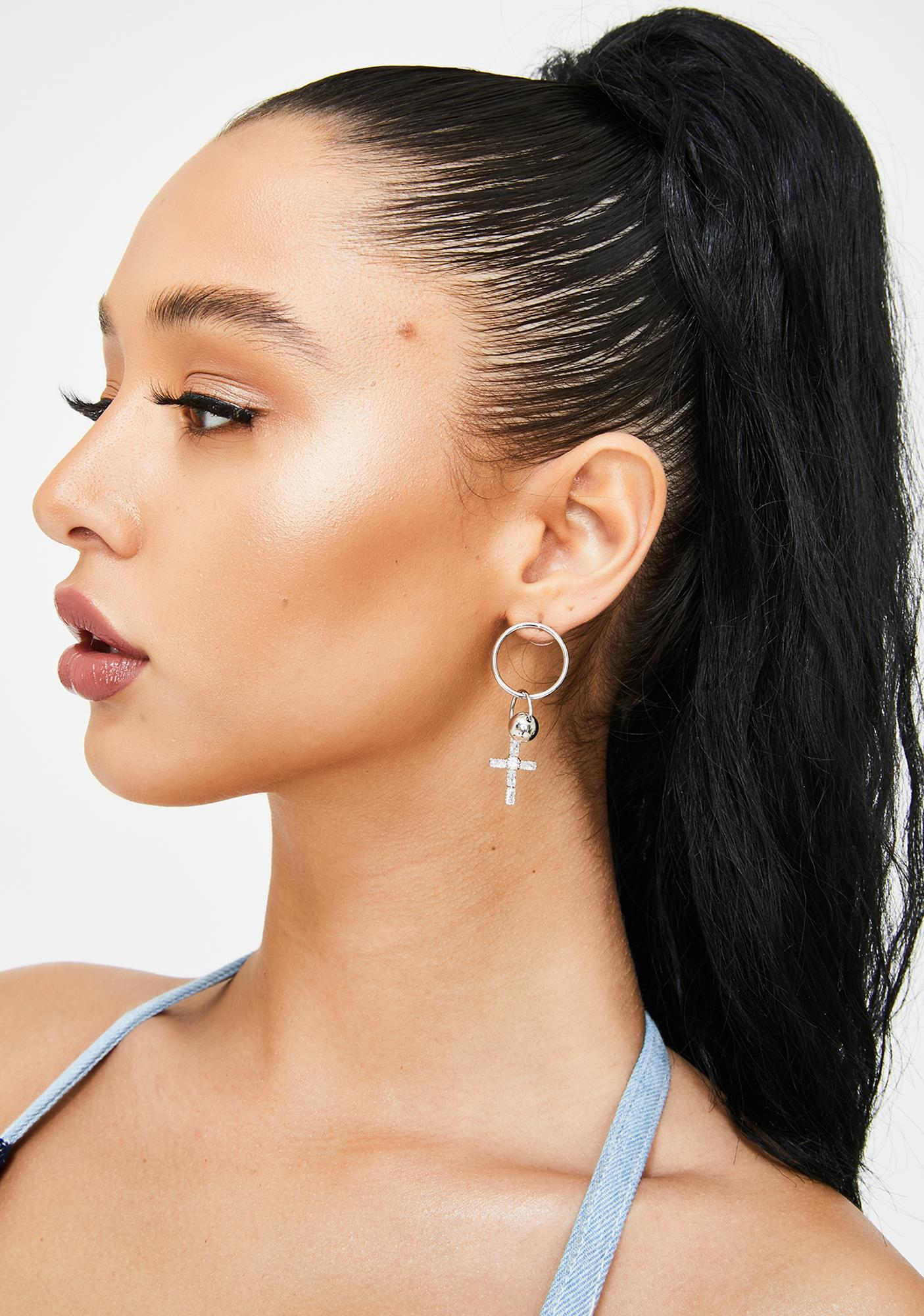 Rich Faith Cross Earrings
