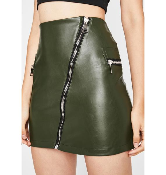 Dank Zip It Honey Mini Skirt