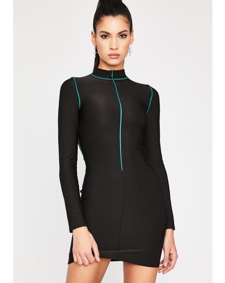 Cyber Seduction Bodycon Dress