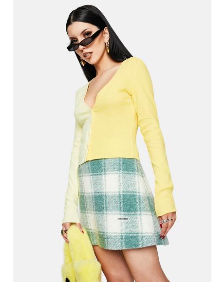 Twiggy Green Skirt