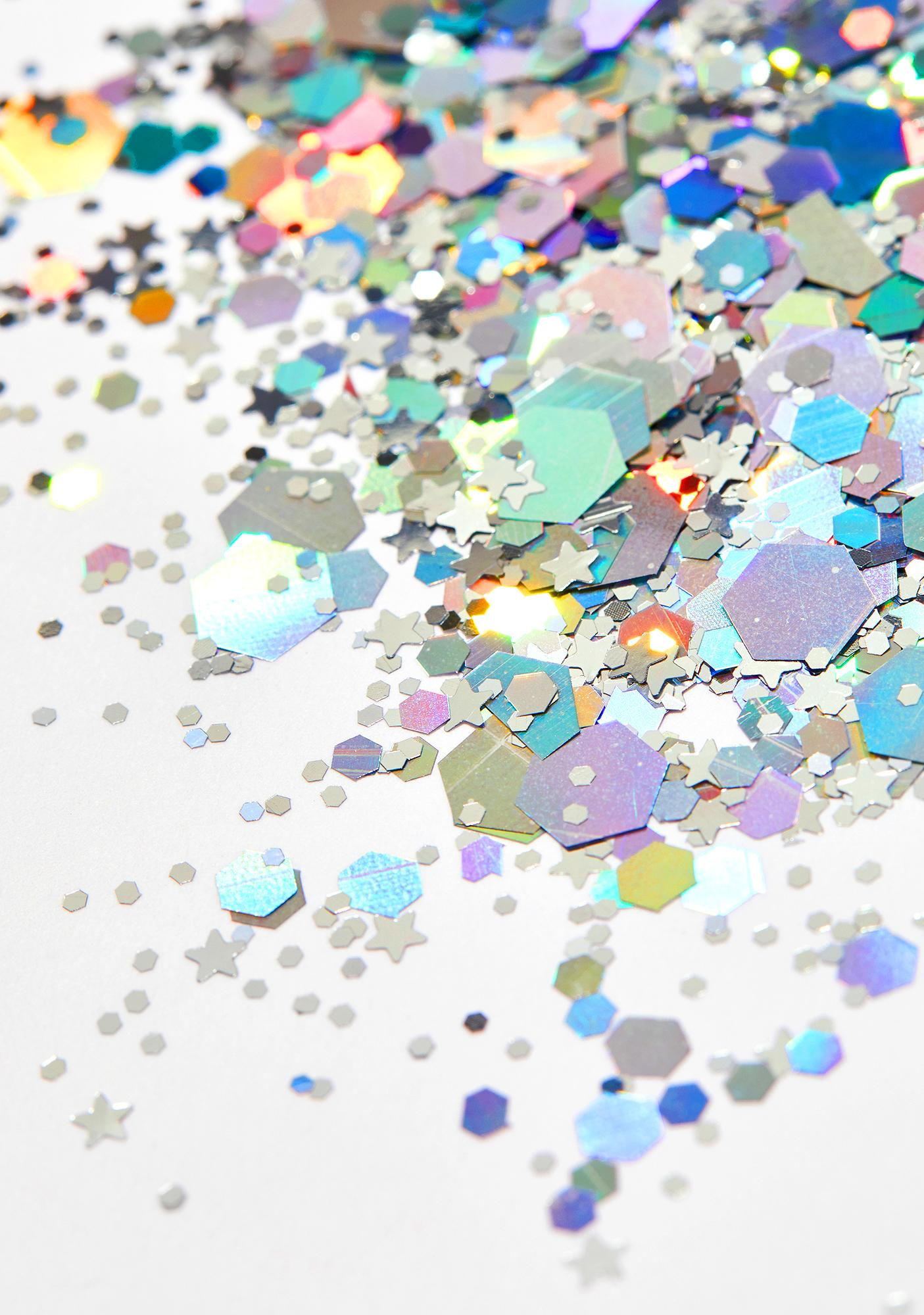 Silver Holographic Chunky Glitter by Karizma Beauty