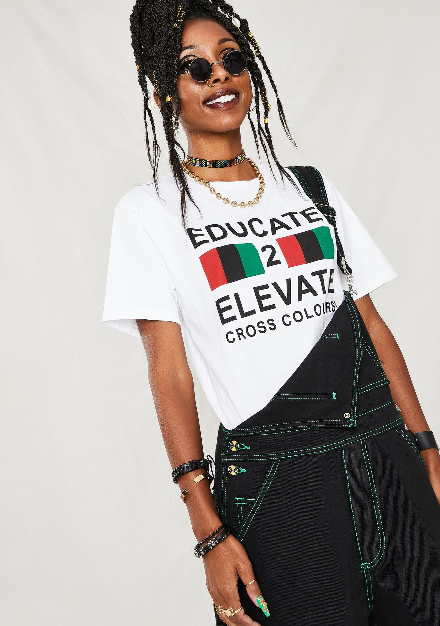Cross Colours Educate to Elevate T-Shirt
