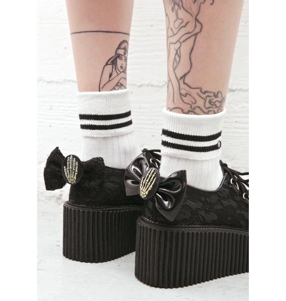 Demonia Elvira's Bow Lace Ceepers
