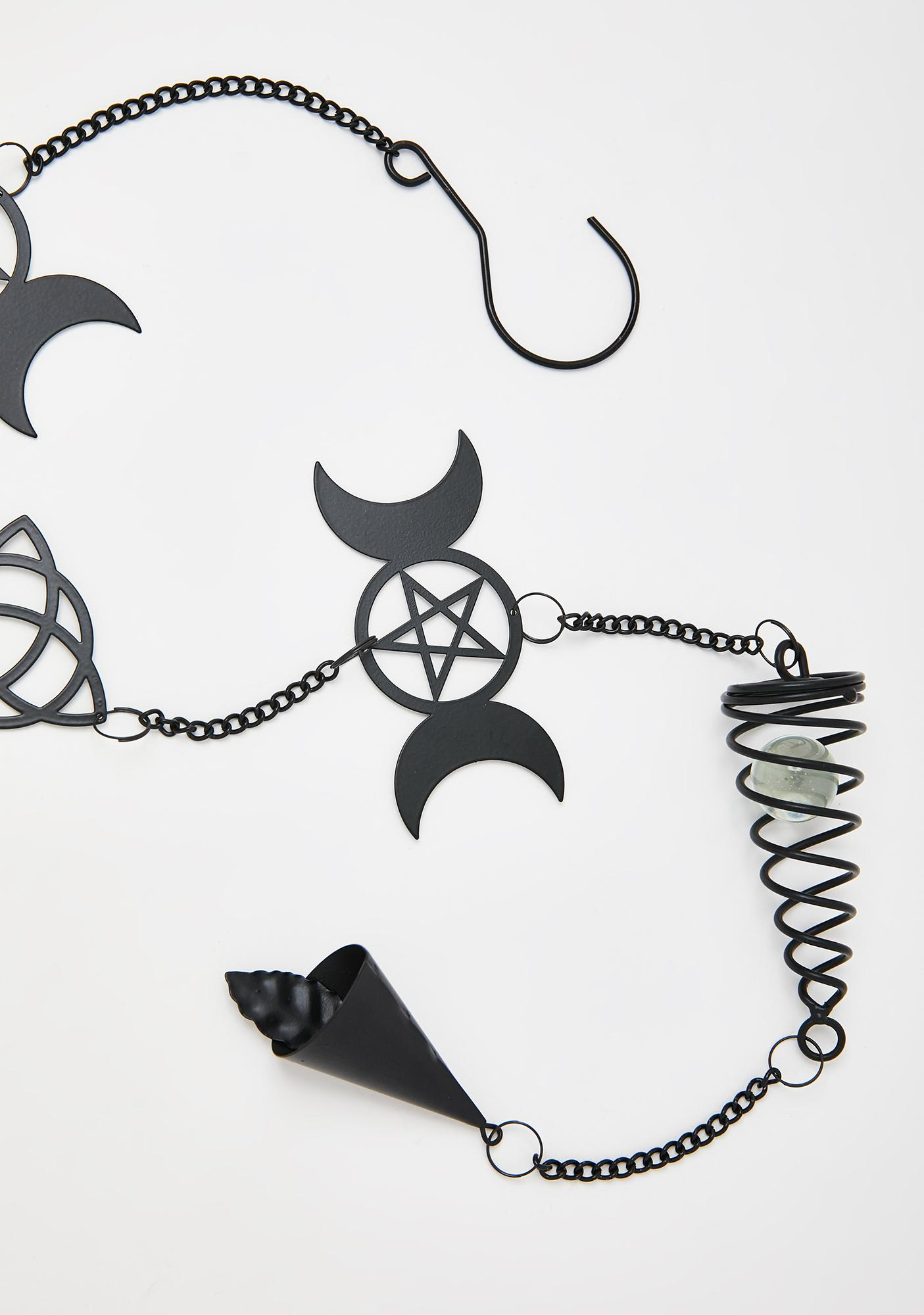 Alchemy England Triple Moon Hanging Wind Chime
