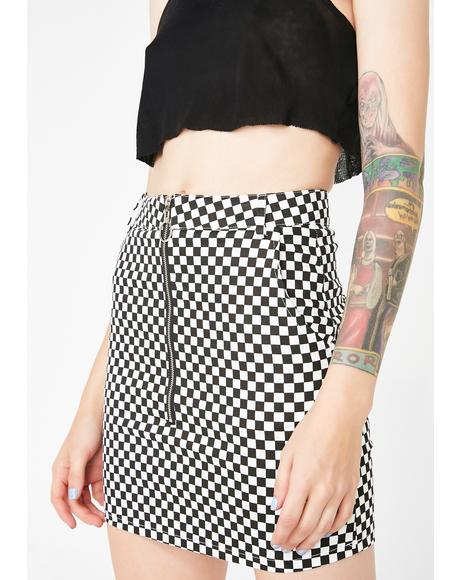 Past Midnight Checkered Skirt