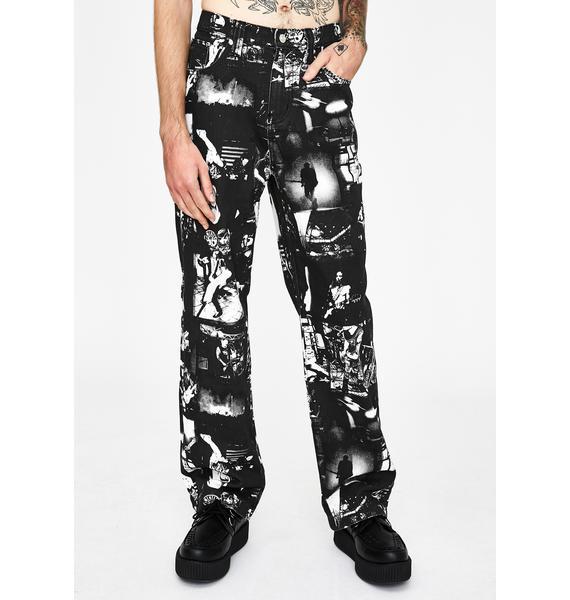 Jaded London Punk Rock Photograph Print Skate Jeans