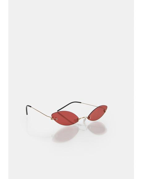 Hot High As Pie Clear Oval Sunglasses