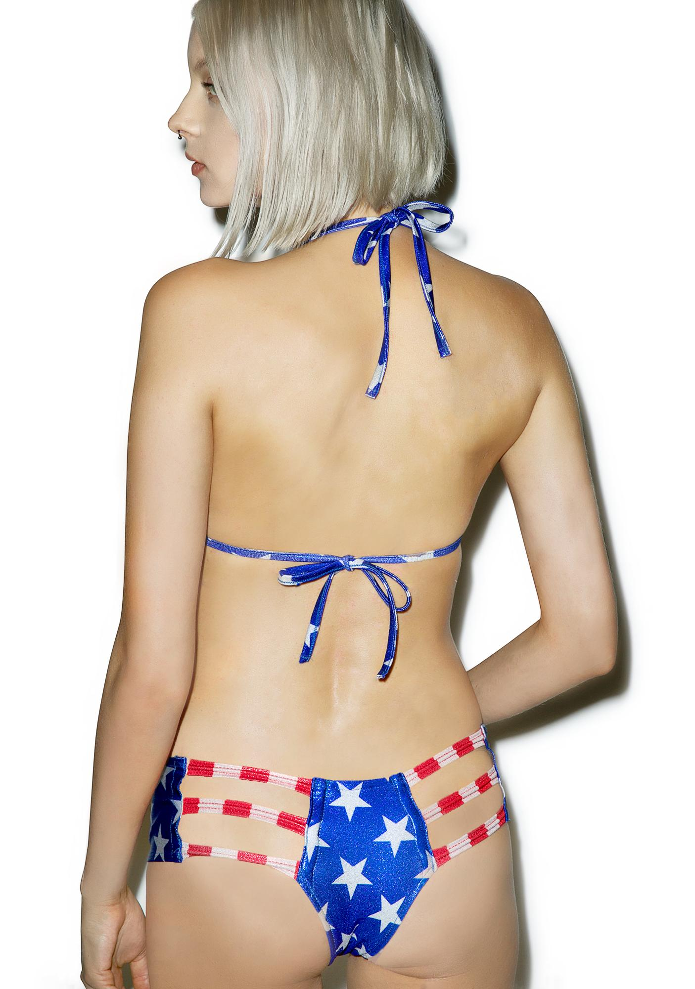 Little Black Diamond Miss America Cut-Out Bottoms