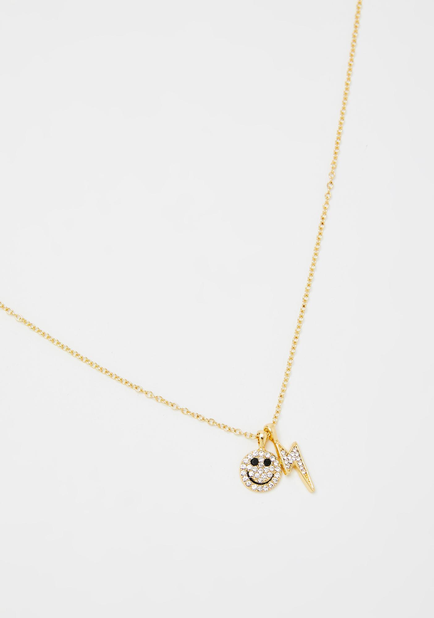 Thunder Smile Rhinestone Necklace