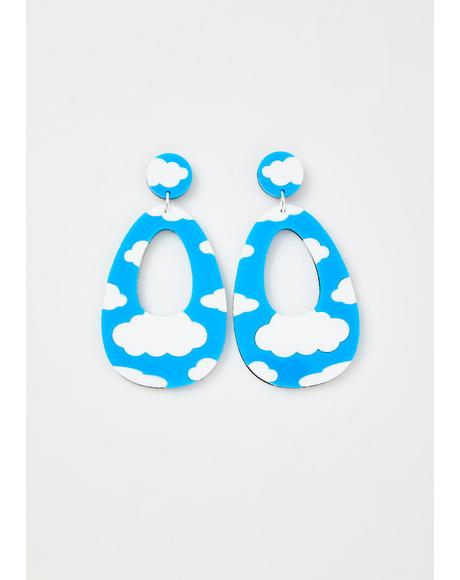 Cloud Dangle Earrings