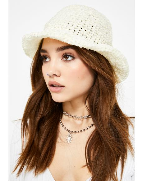 Cloudy Broad Horizons Crochet Bucket Hat