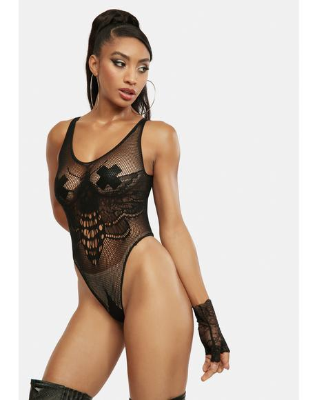Moth Lace Lingerie Teddy