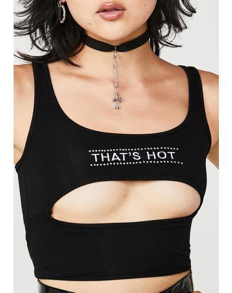 Dark That's Hot Cutout Tank