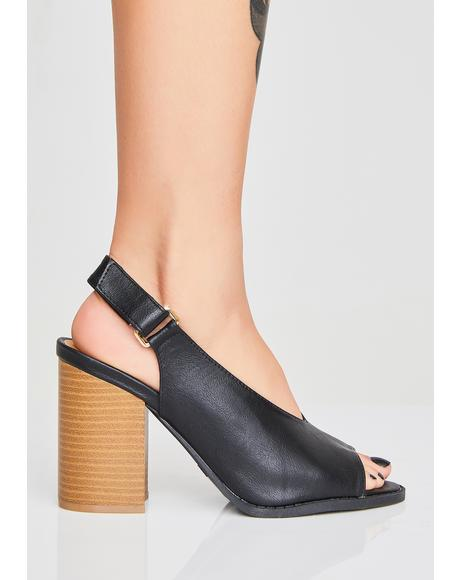 Save The Drama Slingback Heels
