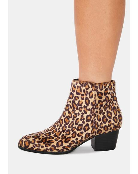 Leopard Remy Slip On Booties