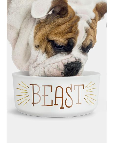 Feed The Beast Dog Bowl Set