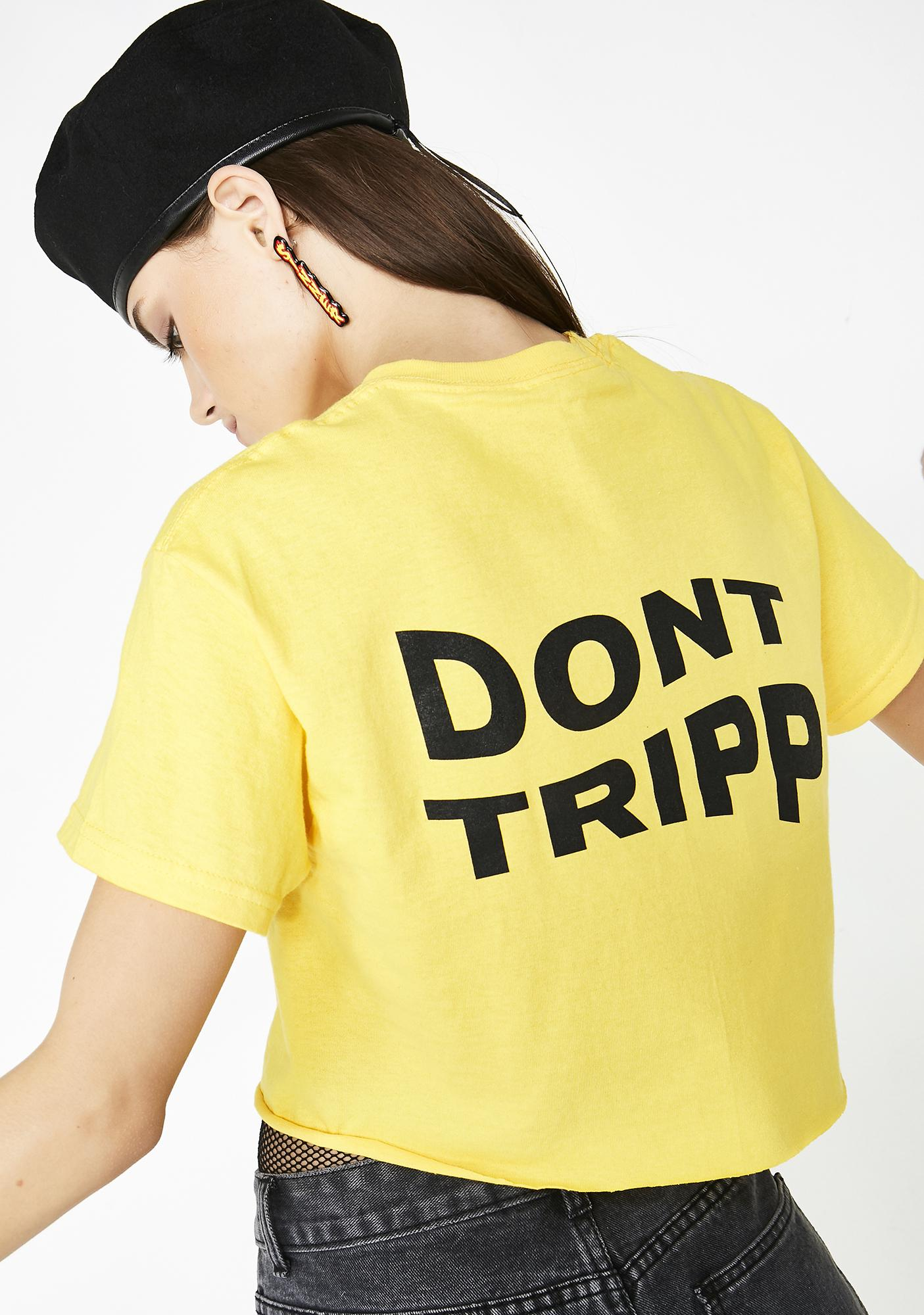 Valley High Don't Tripp Cropped Tee