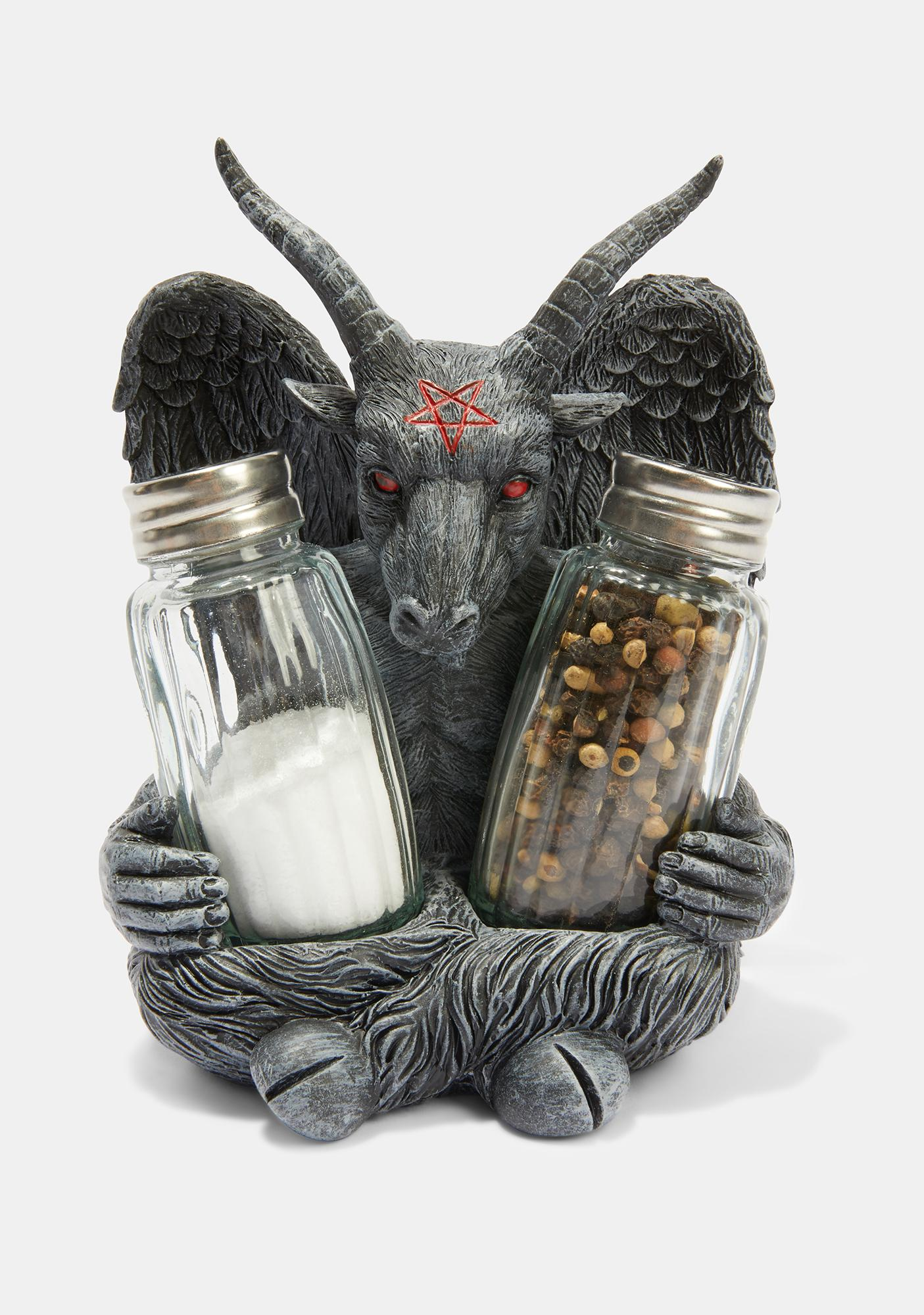 Kreepsville 666 Goat Head Salt and Pepper Shakers