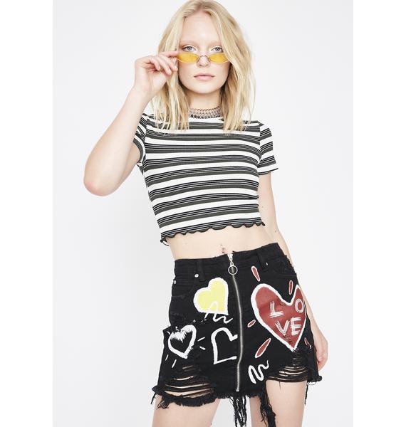 Love N Devotion Mini Skirt