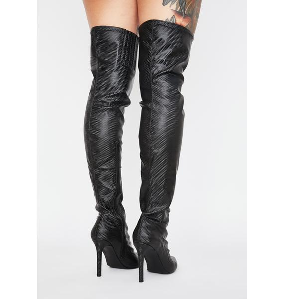 Poster Grl Secure The Bag Thigh High Boots