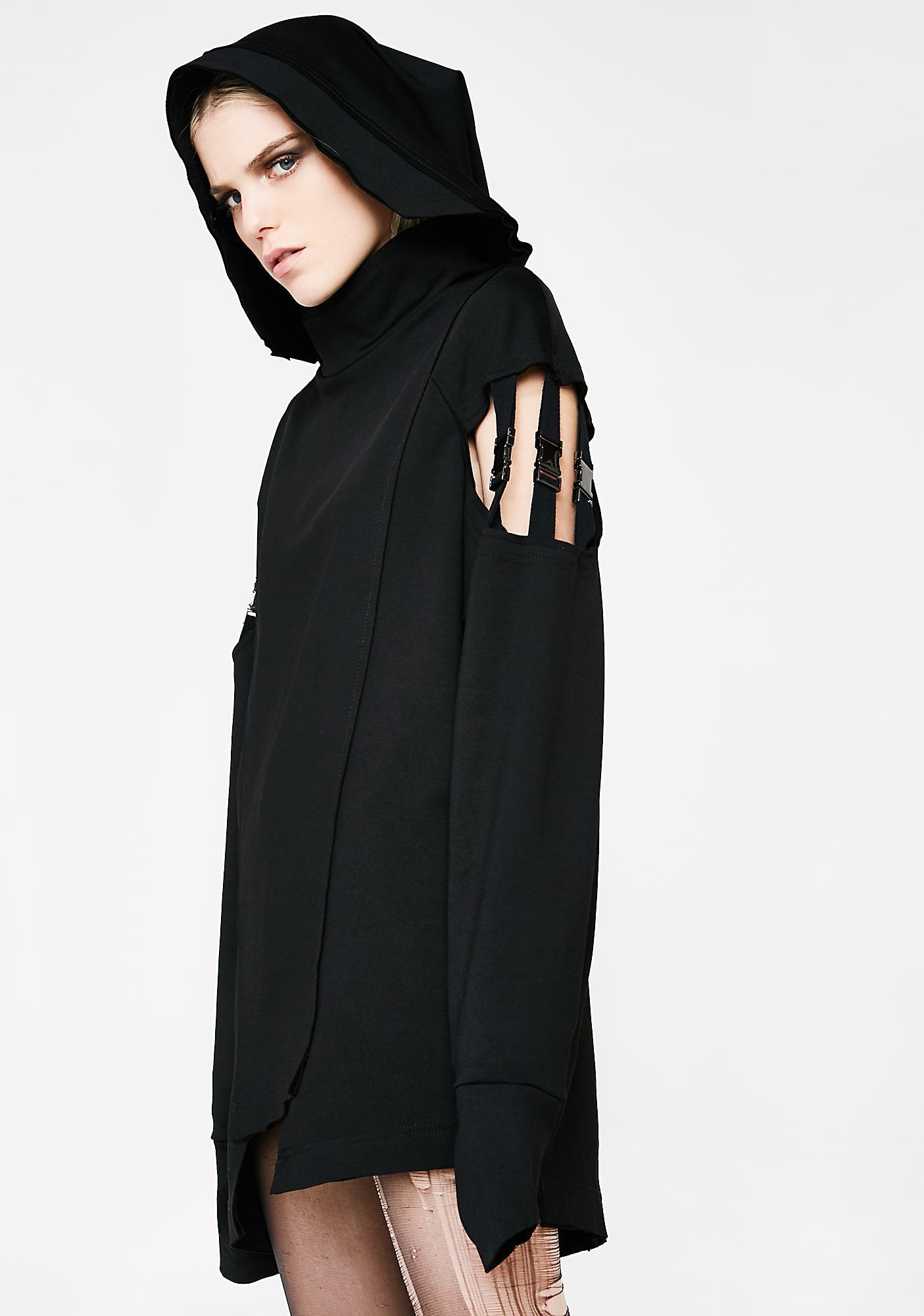 Punk Rave Punk Segmented Sleeve Hoodie