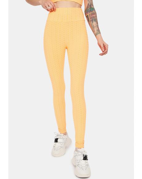 Mango When I'm With You Active Textured Leggings